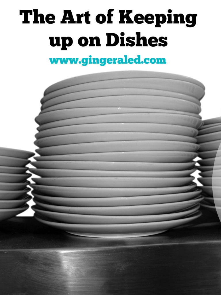 The art of keeping up on dishes