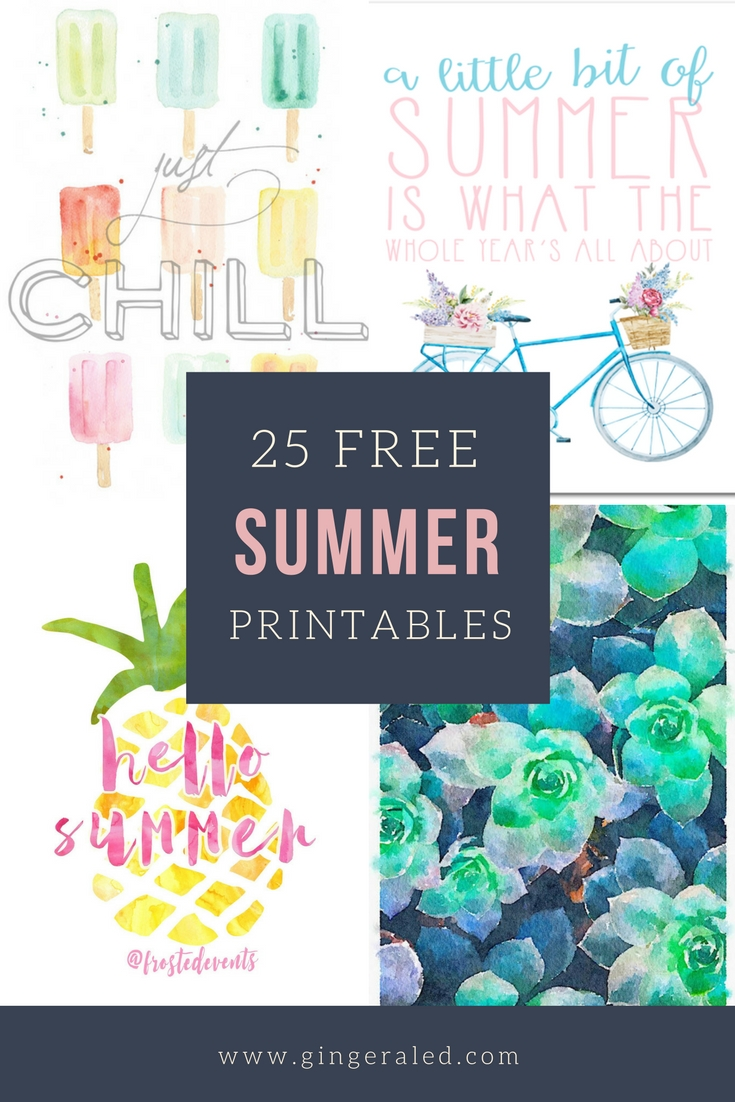 25 Free Summer Printables
