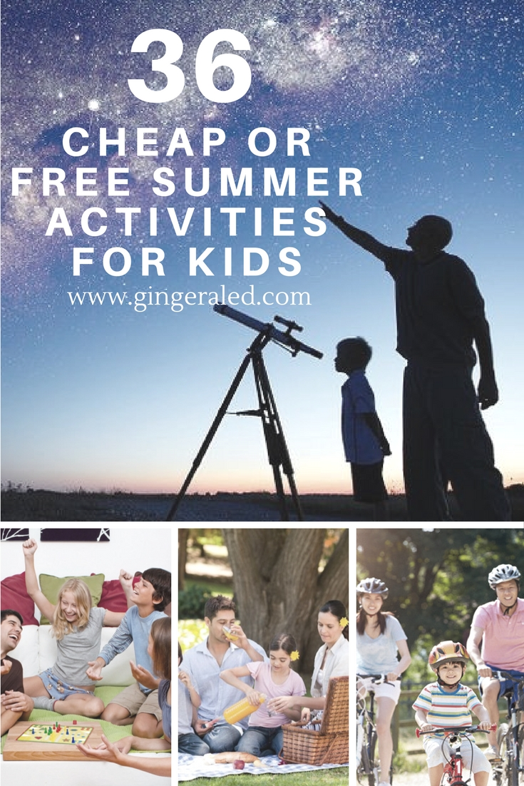 36 Cheap or Free Summer Activities for Kids